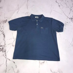 Lacoste Blue Polo Shirt with Patch Pocket Size XL?